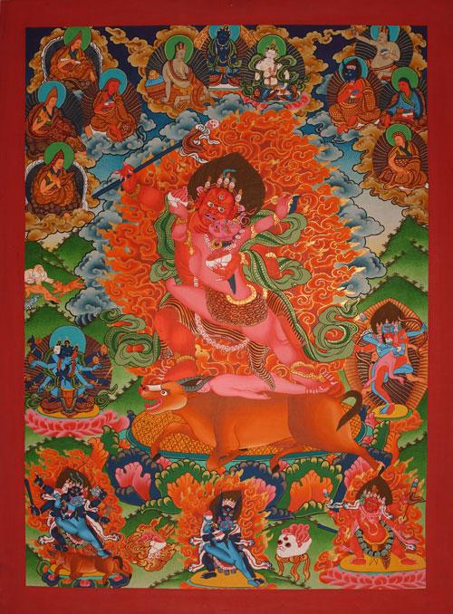 Rakta Yamantaka / Rakta Yamari Thangka, lovingly painted / liebevoll gemalt